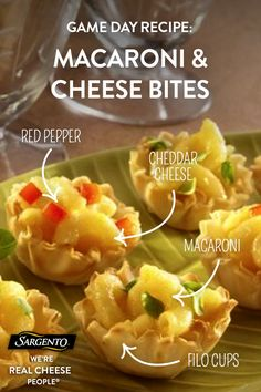 Promoted by Sargento®. Want to win the weekend? No one will be able to resist these tasty little appetizer cups made with buttery macaroni noodles mixed with melted Sargento® Traditional Cut Shredded Extra Sharp Cheddar Cheese, diced red bell peppers and a pinch of cayenne pepper for the perfect flavor. Click through for the full recipe!