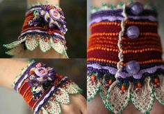 Beautiful cuff.  Inspiration only. ❥Teresa Restegui http://www.pinterest.com/teretegui/❥