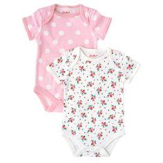 Hankie Rose Pack of 2 Baby Bodysuits   Kids   CathKidston