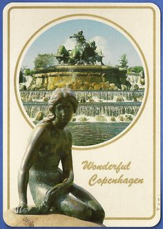 "119 ""Wonderful Copenhagen. Den lille Havfrue. Sculp. Edv. Eriksen""."