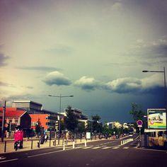 Storm is near #clouds, #sainté, #sun, #igersstetienne, #loire, #storm, #stetienne, #chateaucreux, #road, #saintetienne - @din0u- #webstagram