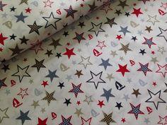 Baumwollstoff Sterne von Sinchns-Stoffzauber auf DaWanda.com