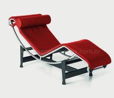 Chaise LC4 vermelha na Essência