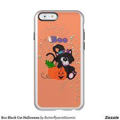 Boo Black Cat Halloween iPhone 6s case Incipio Feather® Shine