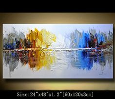 Modern Canvas Art Wall Decor Abstract Oil Painting Contemporary Art Abstract Paintings Framed Canvas Wall Art for Home Decor , Wall Decorations For Living Room Bedroom Office Ready to Hang Abstract Art Painting, Landscape Paintings, Painting, Art, Canvas Art Decor, Texture Painting, Abstract, Abstract Wall Painting, Canvas Painting