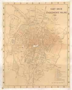 Stadsplattegrond Malang, Oost-Java 1935