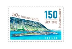 COLLECTORZPEDIA The Town of Isafjordur 150th Anniversary - Self-Adhesive Stamp
