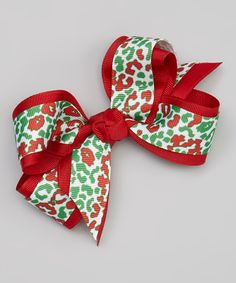 Red & Green Abstract Clip