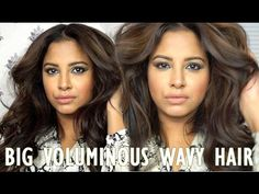 How to | Big Voluminous Wavy Hair | Andjani Triloki - YouTube