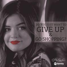 Wish that was an option.   Pretty Little Liars Quotes