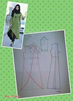 Discover thousands of images about Tunik (İcLaL) Dress Sewing Patterns, Blouse Patterns, Clothing Patterns, Blouse Designs, Diy Clothing, Sewing Clothes, Fashion Sewing, Diy Fashion, Estilo Hippie