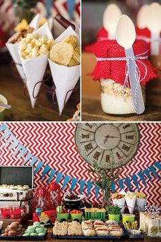 Vintage Railroad Train Birthday Party    invitations by Kelly of kellyallison photography, via Hostess with the Mostess, table design by may boury styling, sweet treats by frost cake & cupcake design, paper goods & party sundry from fort & field and paper source