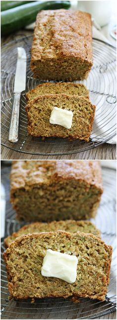 Zucchini Banana Bread Recipe on twopeasandtheirpod.com This whole wheat quick bread is great for breakfast or anytime! It freezes well too!