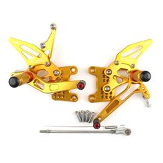 Rearset Rear set For Triumph Speed Triple 1050 Gold Triumph Motorcycle Parts, Triumph Motorcycles, Triumph Speed Triple 1050, Motorcycle Parts And Accessories, Vehicles, Gold, Vehicle, Yellow