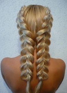 How to get Beachy Waves Hair Without Sea Salt. See how this double dutch braid can help!