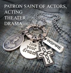 Hey, I found this really awesome Etsy listing at https://www.etsy.com/listing/240187586/patron-saint-of-actors-st-genesius-charm