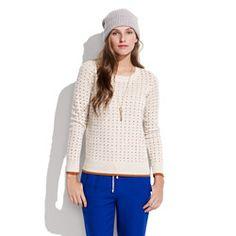 Color-Stitch Sweater