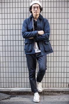 Name: kazuki kimura occupation: beams japan staff location: Workwear Fashion, Mens Fashion, Fashion Vest, Fashion Boots, Fashion Outfits, Denim Jacket Men, Barbour Jacket Mens, Vest Men, Denim Jackets