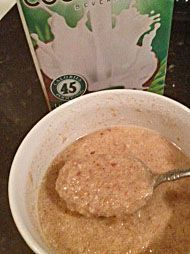 Better than oatmeal, nutty, low carb flaxseed hot cereal! Great for breakfast or a bedtime snack. FREE guidebook on the recipe page, for even more info on how to make delicious low carb meals.