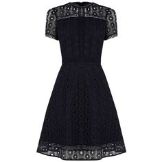 Warehouse Int Mix Lace Prom Dress featuring polyvore, women's fashion, clothing, dresses, navy, women, navy blue prom dresses, short prom dresses, cocktail prom dress, lace cocktail dress and navy blue dress