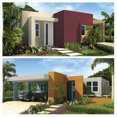 Si te atraen los colores de la naturaleza intenta con estas tres tonalidades: Pine Forest Green (10GY 29/158) para un acento, Eggnog (20YY 74/192) para el resto de la fachada y Swiss Coffee (50YY 83/057) para el alero y los marcos de las ventanas. Otra alternativa puede ser: Apricot Brandy (10YY 35/543) como acento en primer plano, O'Keefe Grey (20YY 57/060) para el resto de la fachada y Blue Jay (70BG 28/169) para alguna pared en segundo plano. #Glidden #Tips #2013