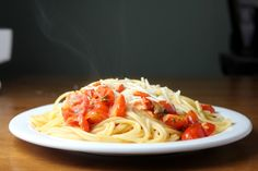 Kitchen Trial and Error: creamy tomato basil pasta - uses cherry tomatoes from the garden
