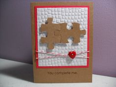 Handmade Anniversary Card  Puzzle Pieces  You by GGgreetings, $3.50