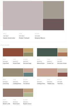 Victorian historical shades of interior paint colors from Sherwin-Williams.