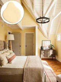 Yellow Bedroom Paint, White Bedroom, Bedroom Sets, Master Bedrooms, Yellow Wall Decor, Master Master, Yellow Bedding, Bedding Sets, Beige Bathroom