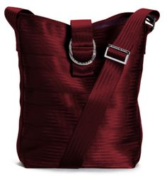 Maggies Bag, made of seatbelts, in this new bucket tote shape. $95.00