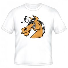 CARTOONS HORSE WITH CHINESE GRAPHIC T-SHIRT