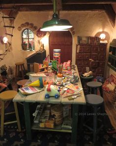 Santa's Compound, the Magic of the North Pole in a Miniature by Marylou Johnson: Center View of Santa's Workshop
