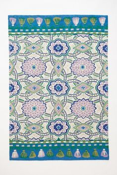 Hand-Embroidered Malati Rug