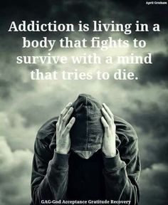 There are some scary things in our world today, but none is more scary than an addiction to drugs and alcohol. It's a growing problem in our society, and alcohol and drug addiction has become a tough nut to crack, so to speak. Drugs and alcohol make. Sober Quotes, Sobriety Quotes, Me Quotes, Qoutes, Addiction Recovery Quotes, Just For Today, Sober Life, Angst, Quote Of The Day