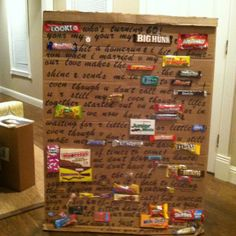 Happy birthday card made with candy bar in place of some words! Candy Poster Board, Candy Posters, Happy Birthday Cards, Birthday Cake, Dont Call Me, Candy Cards, Fun Ideas, Party Ideas, Gift Ideas