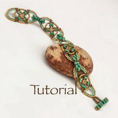 Beaded Bracelet Pattern Dogwood by JewelryTales on Etsy, $10.00