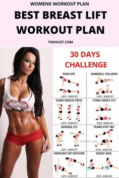 Full Body Gym Workout, Gym Workout Videos, Gym Workout For Beginners, Workout Plan For Women, Fitness Workout For Women, Chest Workout Women, Chest Workouts For Women, Breast Lift Workout, Woman Workout