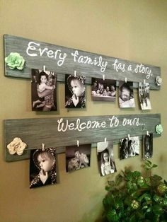Wall deco family photo Every family has a story Welcome to ours