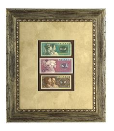 Love to travel? When visiting foreign countries, bring home some of the currency (coins work, too) and have it custom framed to create a memorable souvenir.