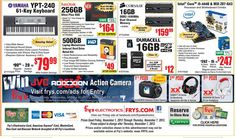 8) One of the main ways Fry's advertises is via weekly circular adds. The add attracts both the attention of the advanced computer user looking for 16 GB of DDR3 1600MHz Dual Channel Memory, to the more novice user looking for a cheap desktop computer.  Historically, many users felt advertised products were limited in supply. Thankfully, now users can even check the quantity on hand at a particular store online.