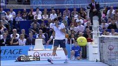 Broken ball woe for Jo-Wilfried Tsonga - Video Dailymotion