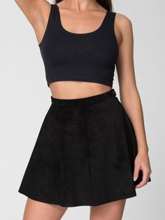 American Apparel Suede Leather Circle Skirt $130