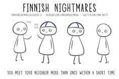 Finnish Nightmares That Every Introvert Will Relate To Meanwhile In Finland, Introvert, Vintage Postcards, Fun Facts, My Life, Funny Memes, Comic Books, Comics, Instagram Posts
