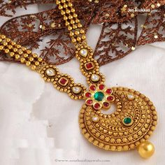 Gold Antique Necklace Designs, Gold Antique Necklace From Josalukkas, Gold Jewellery Designs from Josalukkas.