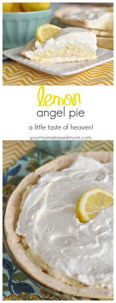 Lemon Angel Pie is a little taste of heaven in your mouth!