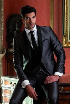 mens navy suit with grey waistcoat - Google Search