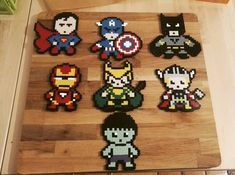 Looks like we have a new team here! Visit https://www.facebook.com/Pixelgeek/ for more! #superhero #superman #captainamerica #batman #ironman #loki #thor #hulk #marvel #dccomics #hamabeads #hama #perler #pixelart #instaart #geek #geekgirl #nerd