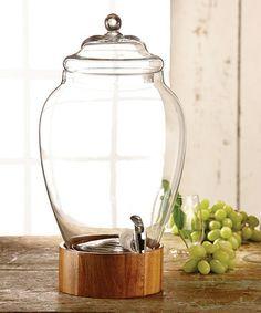 Elegant Madera Jar Beverage Dispenser #zulilyfinds