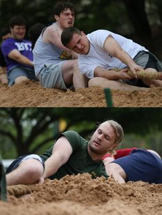 The tug-of-war tournament: a tradition at Baylor Diadeloso.