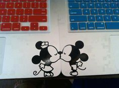 Matching macbook decals :')